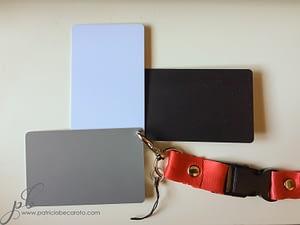 ajustar el balance de blancos con tarjeta gris medio